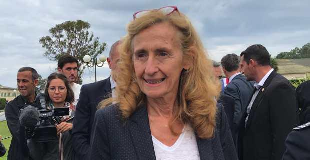 La ministre Nicole Belloubet au Centre pénitentiaire de Casabianda.