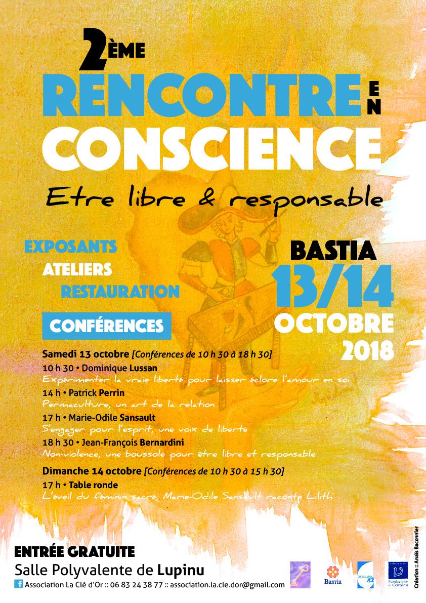 """Bastia : 2ème rencontre en conscience sur le thème """"Être libre et responsable""""."""