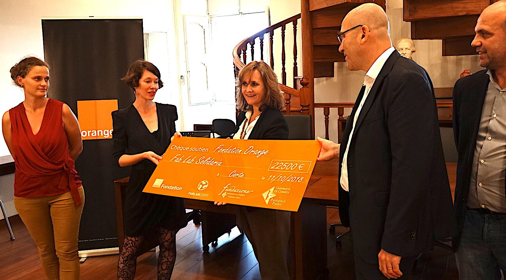 Corte : La fondation Orange soutient le Fab Lab Solidariu