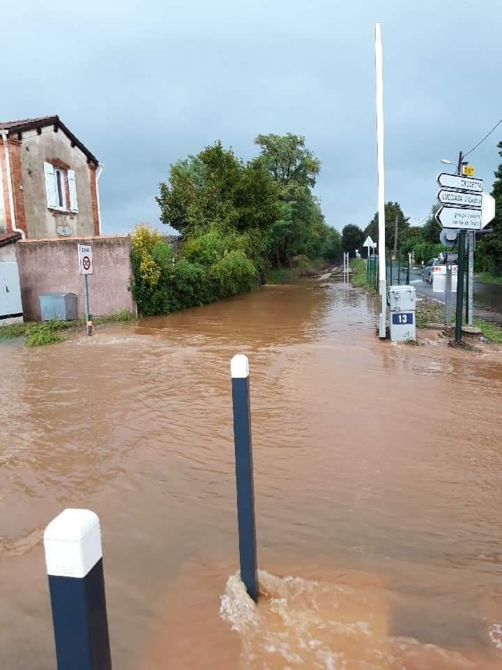 Inondations sur le secteur de Borgo : circulation difficile, trafic ferroviaire temporairement interrompu