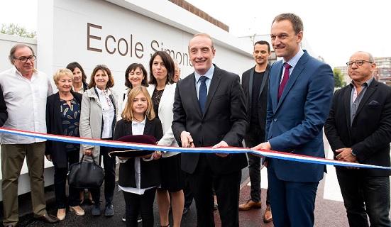 La cérémonie d'inauguration de l'école Simone Veil / Photo Ville d'Ajaccio