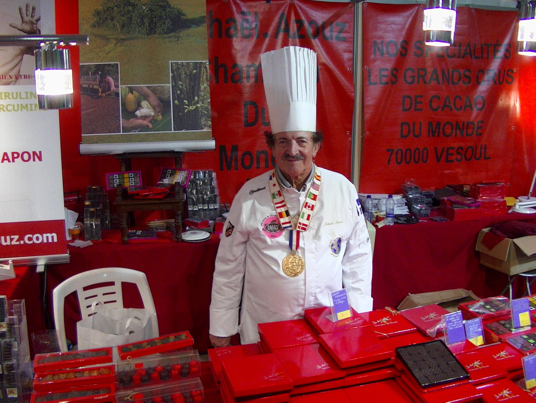 Mickael Azouz, chocolatier, champion du monde