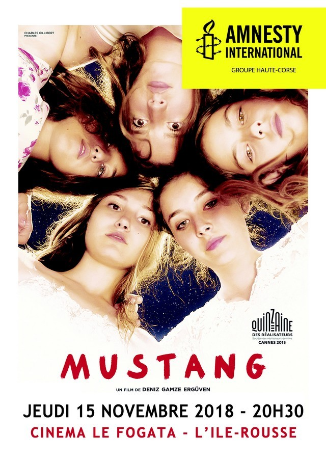 "10 NOV    Projection du film ""Mustang"" à Lisula avec Amnesty International"