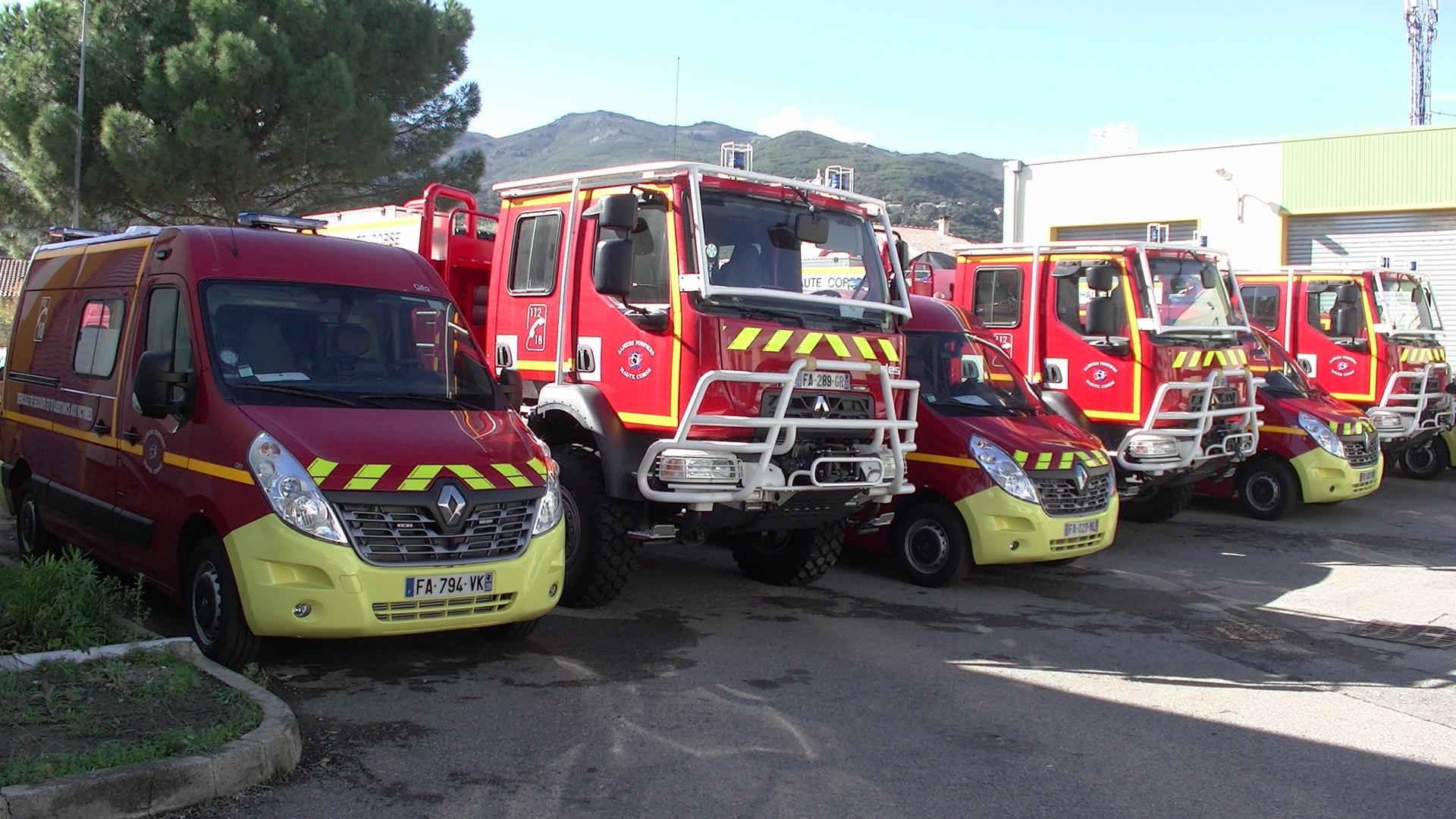 Des nouveaux véhicules performants pour le Service d'Incendie et de Secours de la Haute-Corse