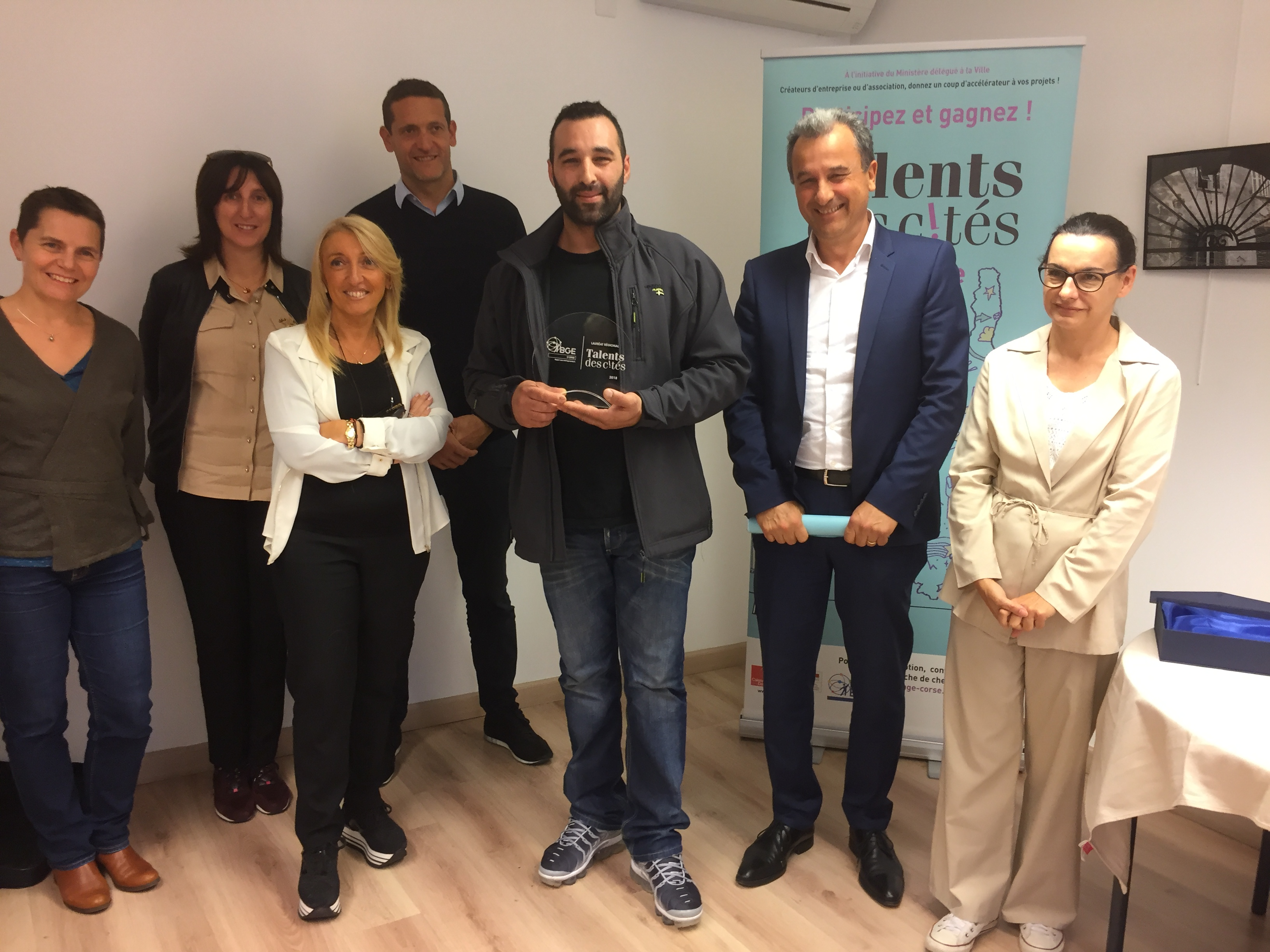 Lauréat de la Catégorie « création » : Mohamed Azhour pour son projet de boucherie Halal.