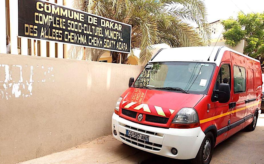 L'ambulance du Sdis de Haute-Corse à Dakar