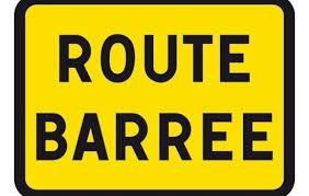 Route fermée à la circulation après des éboulements entre Bigornu et Lentu