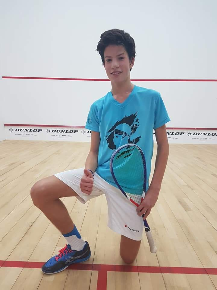 Antonin Romieu (Ile-Rousse) vainqueur du Belgian Open International Junior de squash à Bruxelles