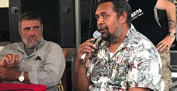 Mickael Forrest, secrétaire permanent pour les relations extérieures du FLNKS (Front de Libération Nationale Kanak et Socialiste) était venu plaider la cause de son pays aux Ghjurnate di Corti.