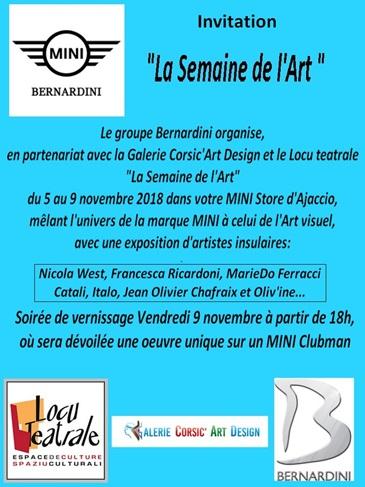 Groupe Bernardini : « Semaine de l'Art » au Mini Store d'Ajaccio
