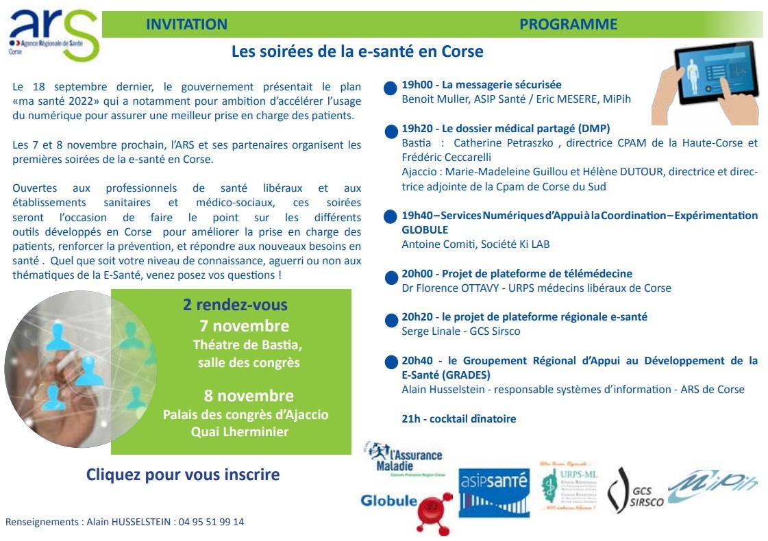 Premières soirées de la e-santé à Ajaccio et Bastia