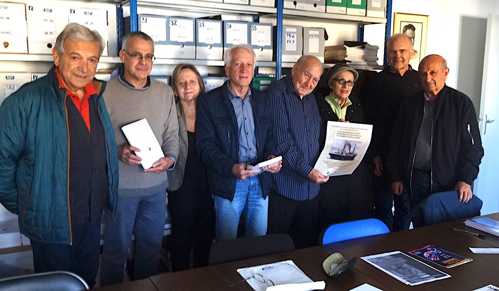"""""""L'équipe"""" de la Société des Sciences historiques et naturelles de la Corse"""