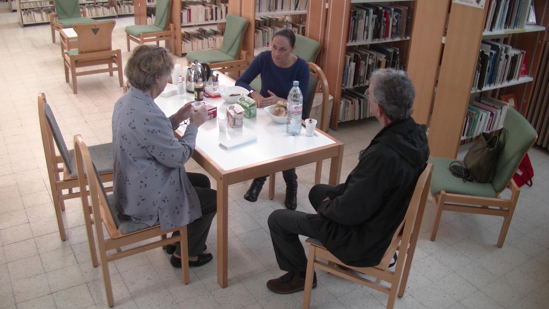 Laetitia Ansaldi a donné de bons conseils aux usagers de la biblitohèque de Bastia...
