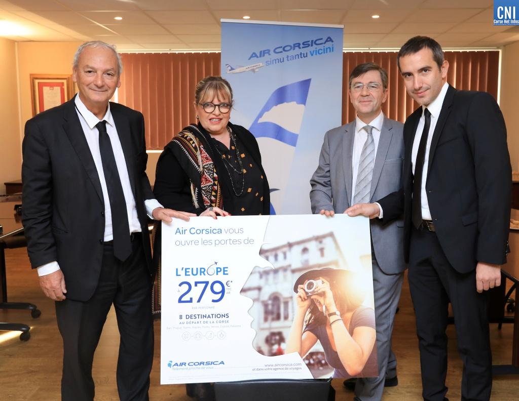 Air Corsica a présenté les nouvelles destinations Européennes pour l'hiver 2019 (Photo Michel Luccioni)