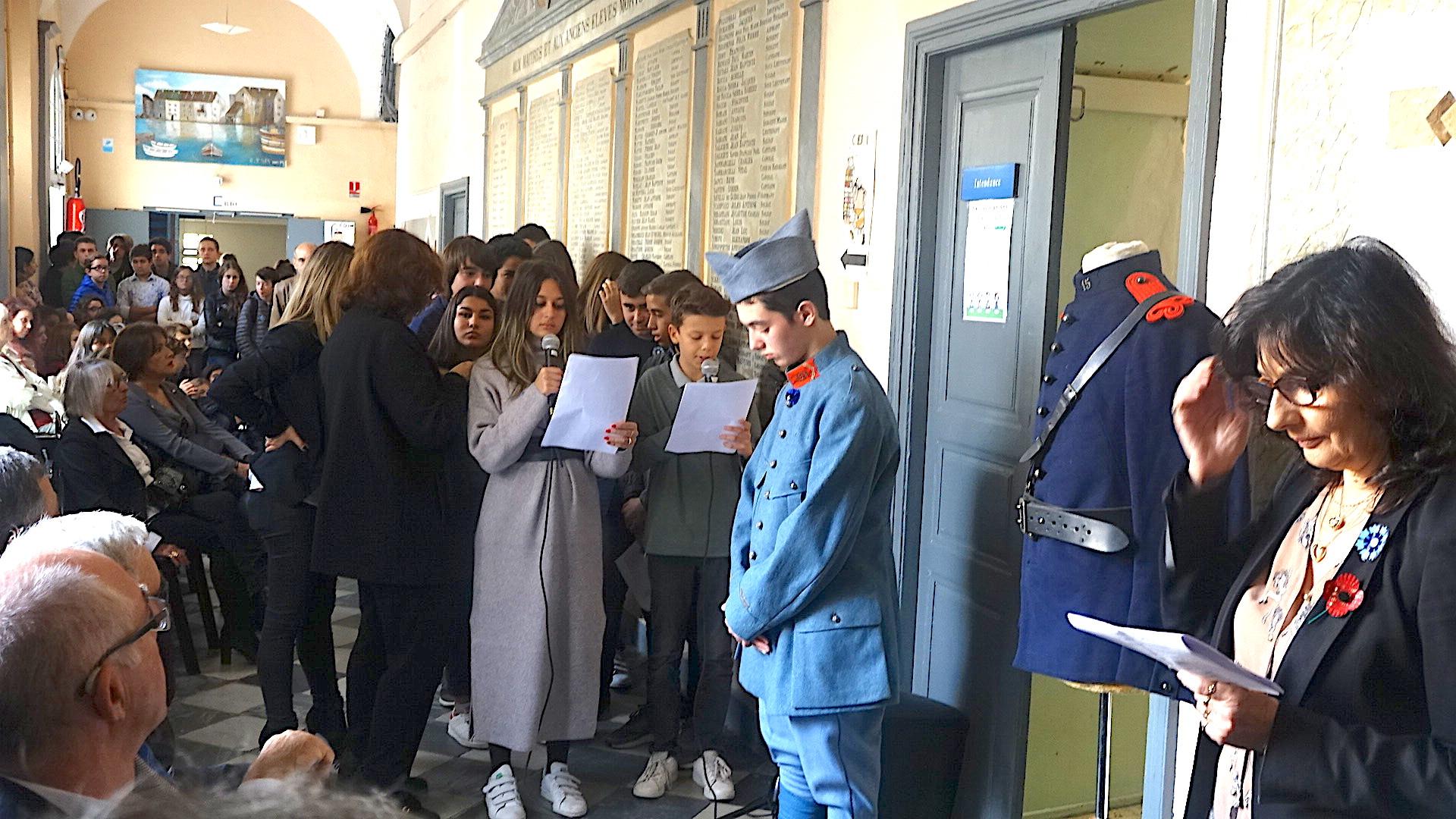 Collège Vinciguerra : Les noms des 200 victimes de la Grande Guerre gravés dans le marbre