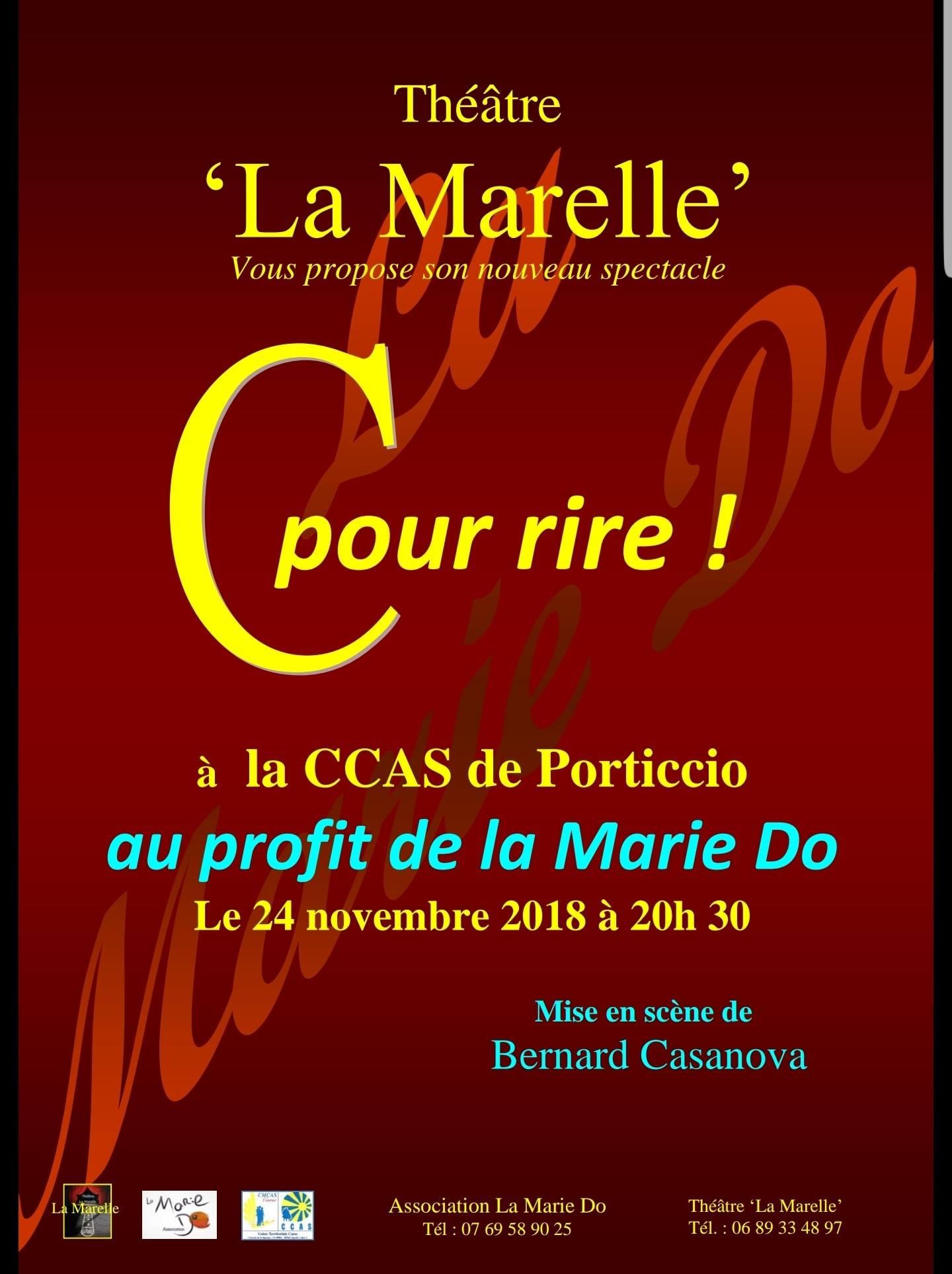 La troupe du Théâtre de ''La Marelle'' joue pour La Marie Do