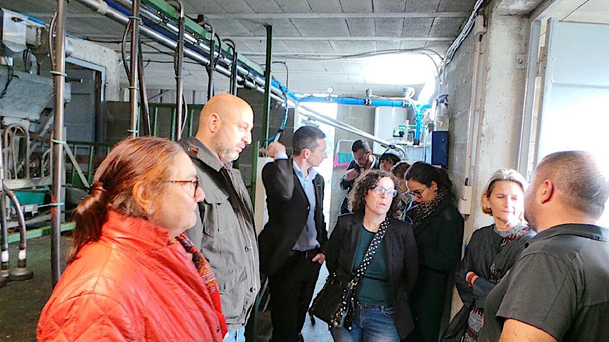 La visite de la commission européenne s'est clôturée dans l'après midi à Lucciana chez un éleveur Ovin dans le cadre du programme FEADER avec Marie-Antoinette Maupertuis et Lionel Mortini