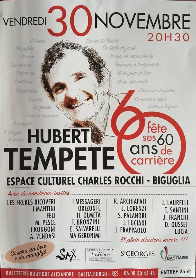 Biguglia :  Les 60 ans de carrière d'Hubert Tempête !