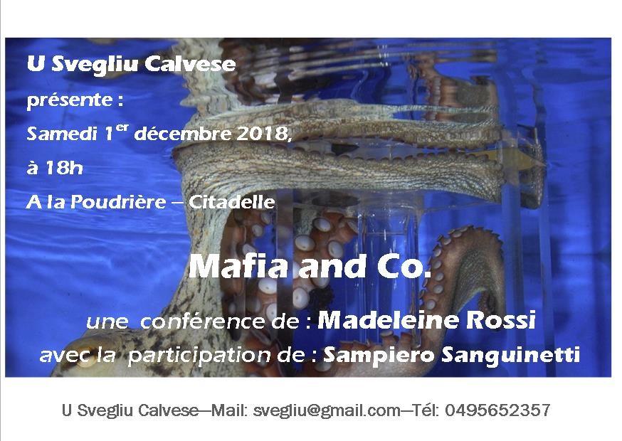 Mafia and Co : Conférence de Madeleine Rossi le 1er décembre à Calvi