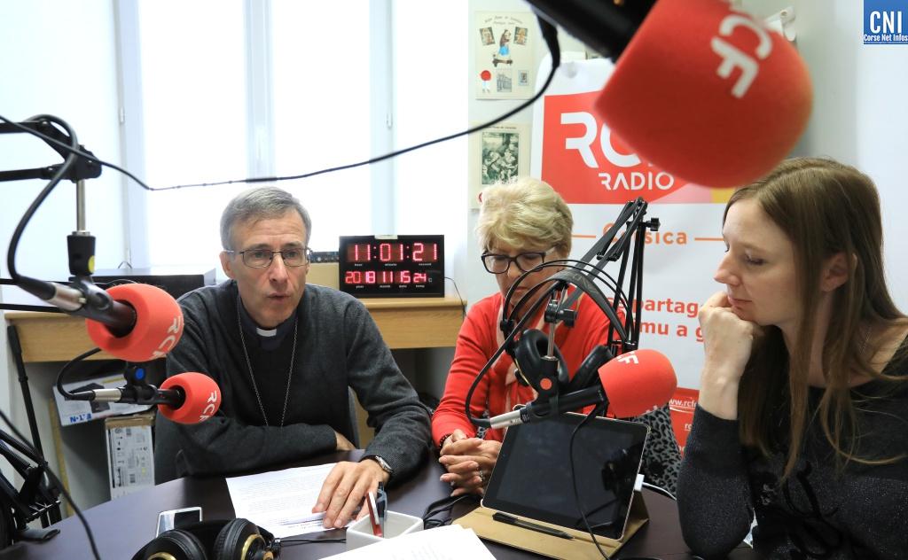Mgr Olivier de Germay, Annonciade Andreani et Laetitia Pietri (Photo Michel Luccioni)