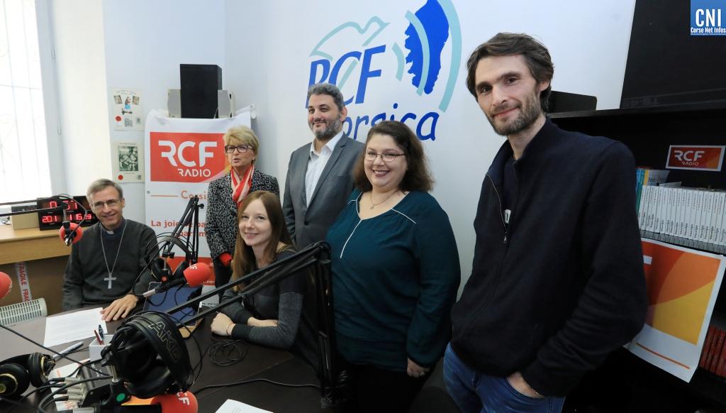 L'équipe de RCF Corsica (Photo Michel Luccioni)