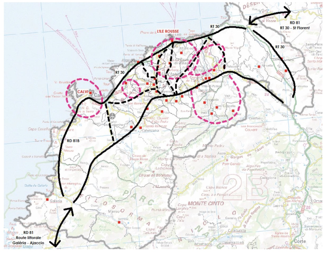 """Projet cyclotouristique """"Intense"""": Présentation de l'étude de faisabilité de l'étape Balagne"""