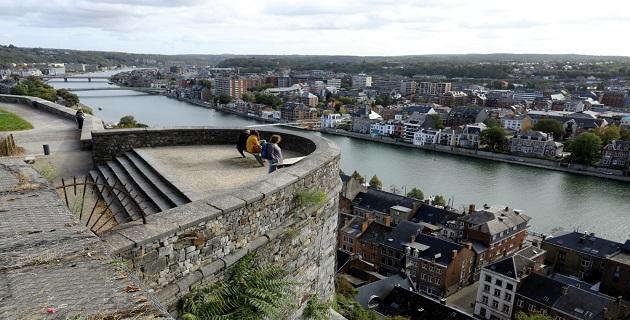 Wallonie: vue de la citadelle de Namur