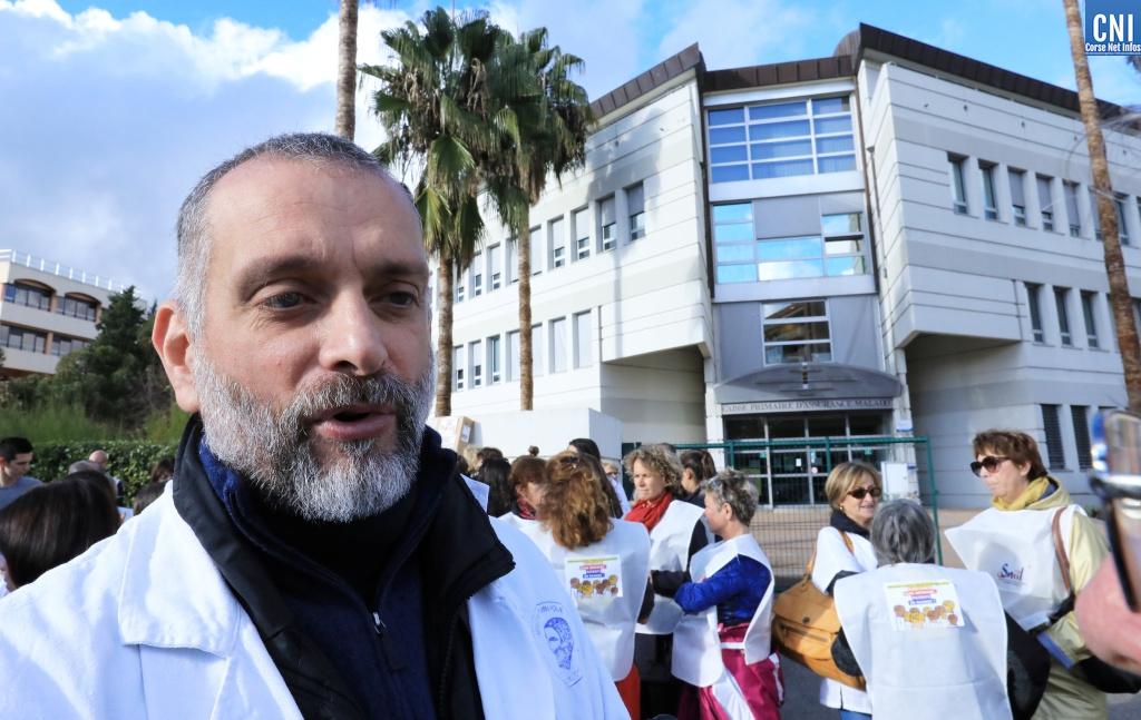 François Pittiloni, infirmier libéral, président du Syndicat des Infirmières et infirmiers libérales de Corse du Sud