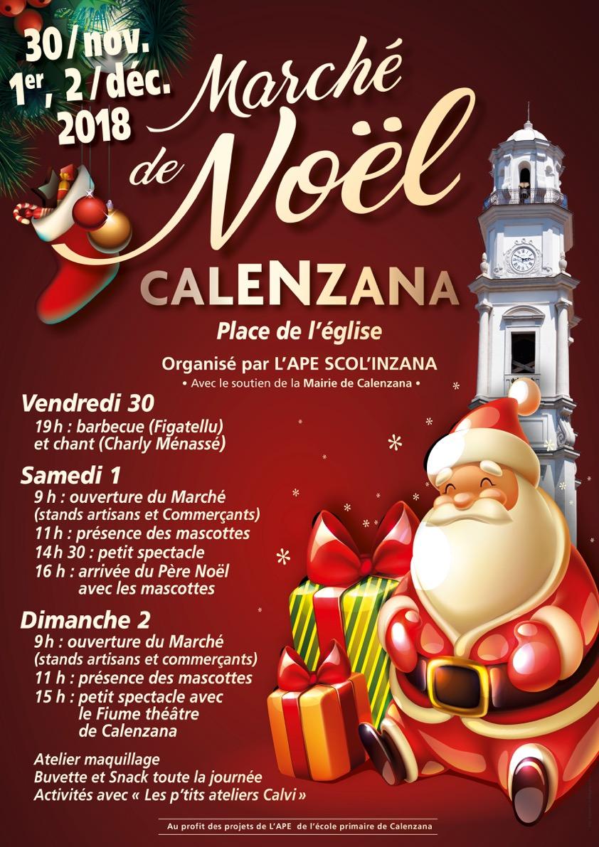 Marché de Noël de l'association des parents d'élèves de  Calenzana