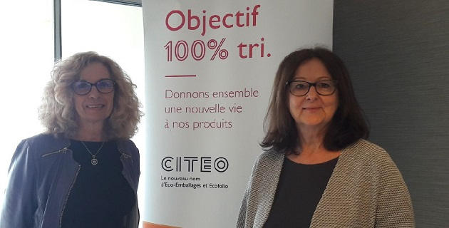 Christine Leuthy-Molina, Dir.régionale CITEO (à gauche) et Marie-Laurence Sotty, Vice-Présidente du SYVADEC