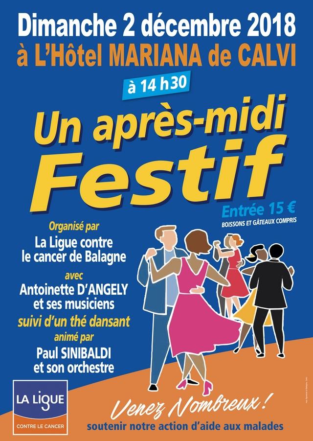 Après-midi festif le 2 décembre à Calvi avec la Ligue contre le cancer Balagne
