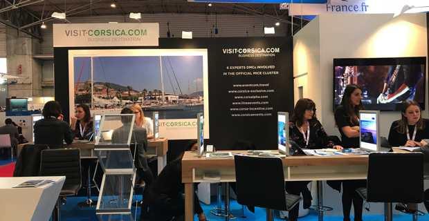 Le stand corse au salon IBTM WORLD du tourisme d'affaires à Barcelone.