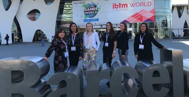 La délégation corse à l'IBTM World de Barcelone..