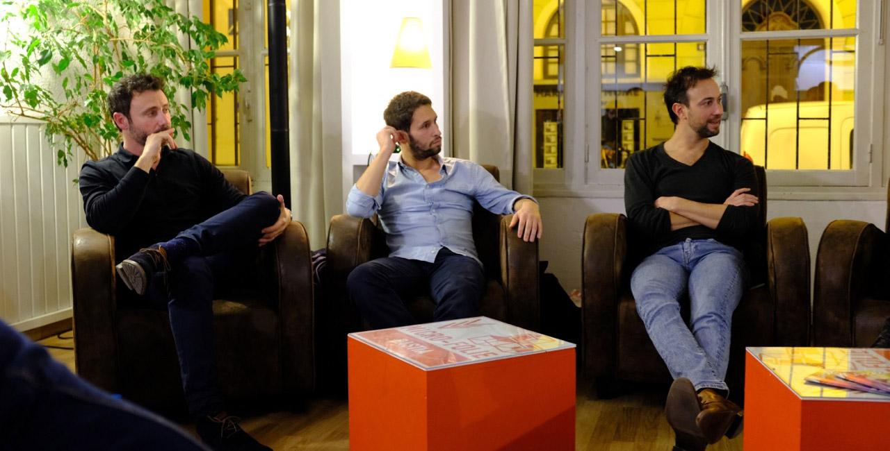 Nathanaël Maïni, Fabien Ara et Alexandre Oppecini