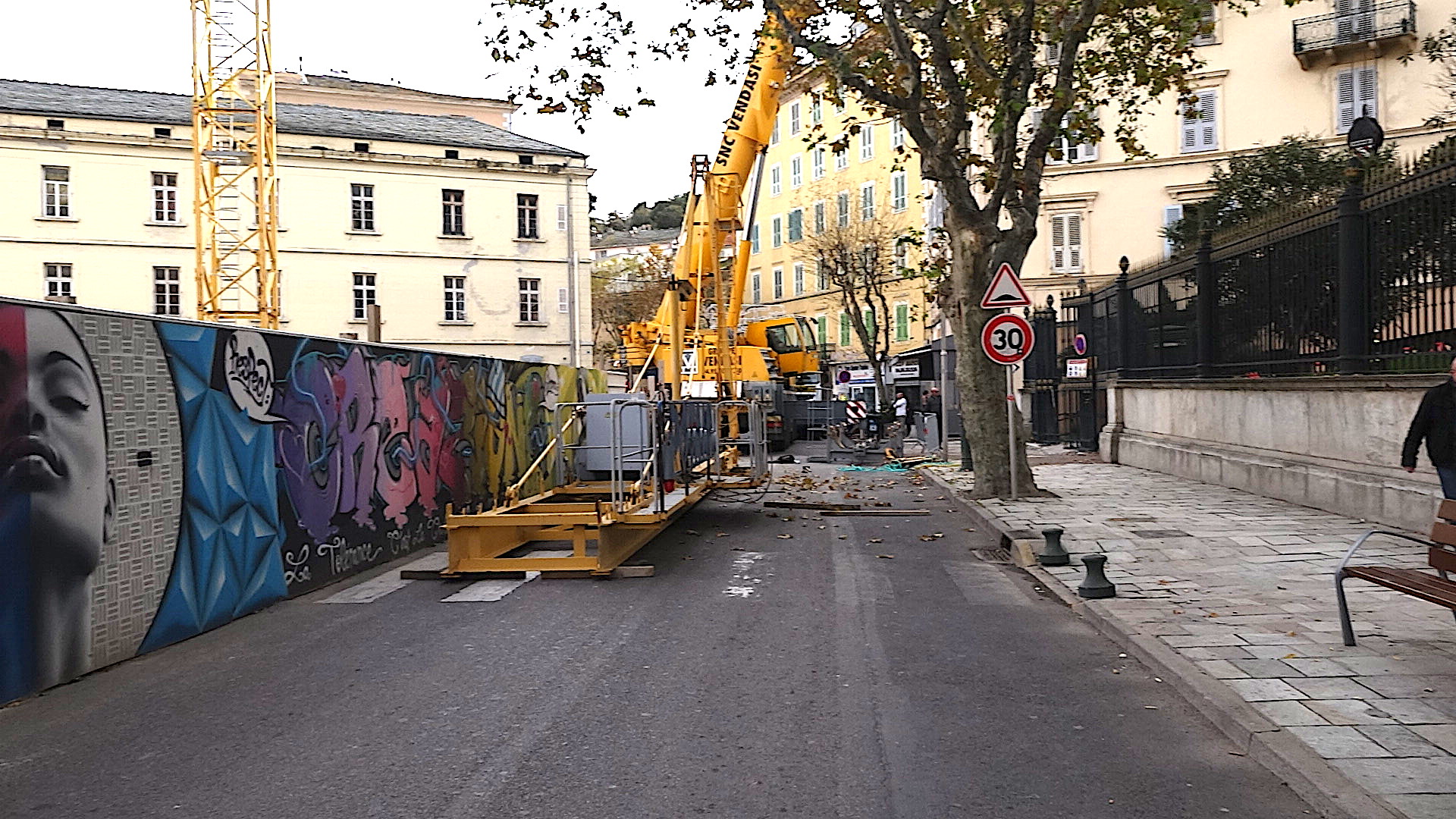 Bastia : Le boulevard Auguste-Gaudin figé