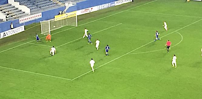 18ème minute de jeu, Schur ouvre le score pour le SCB