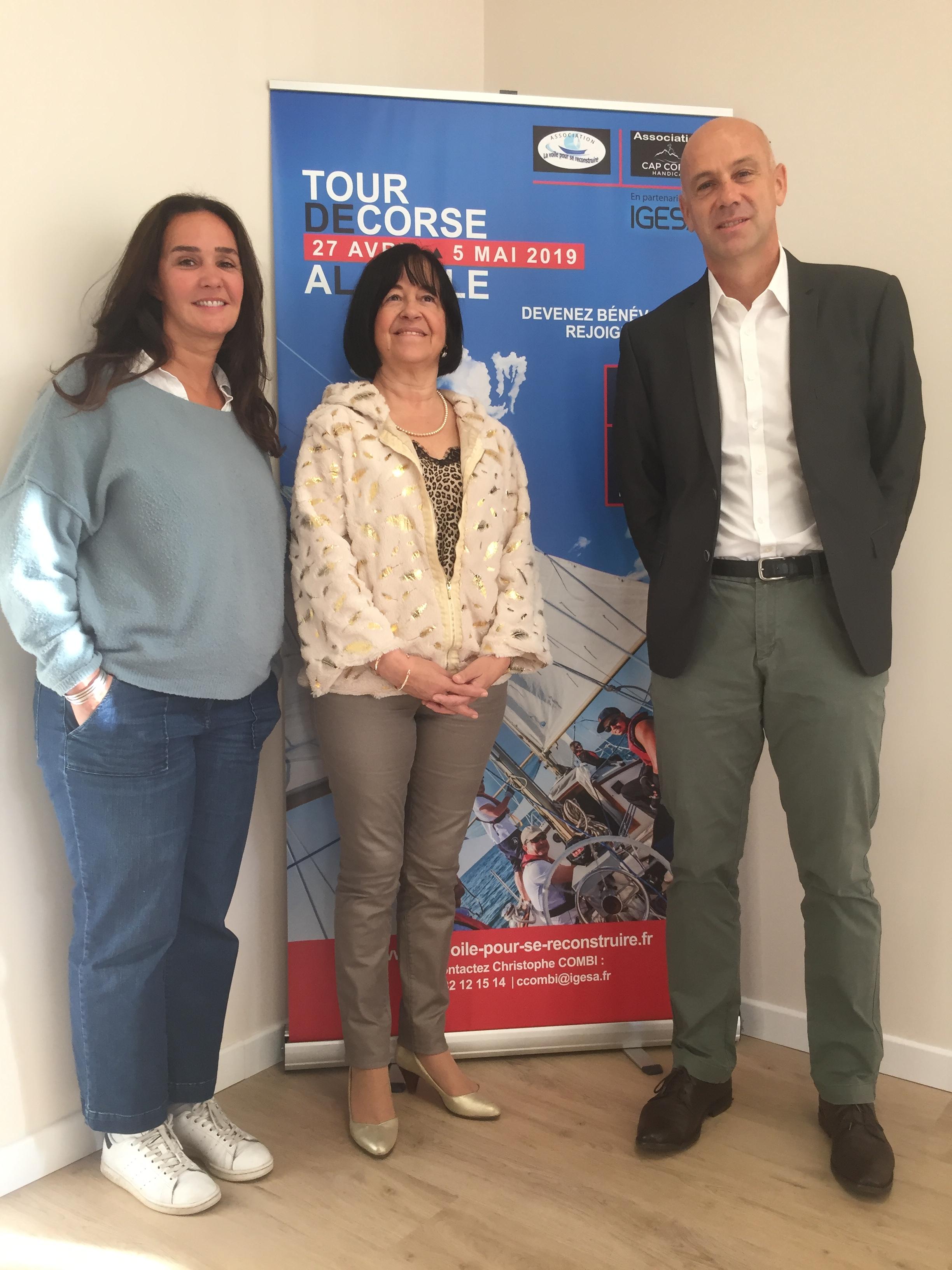 Christophe Combi et son équipe en préparation du tour de Corse
