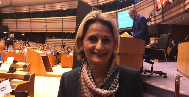 Nanette Maupertuis, conseillère exécutive en charge des affaires européennes, présidente de l'Agence du tourisme et membre du Comité européen des Régions.