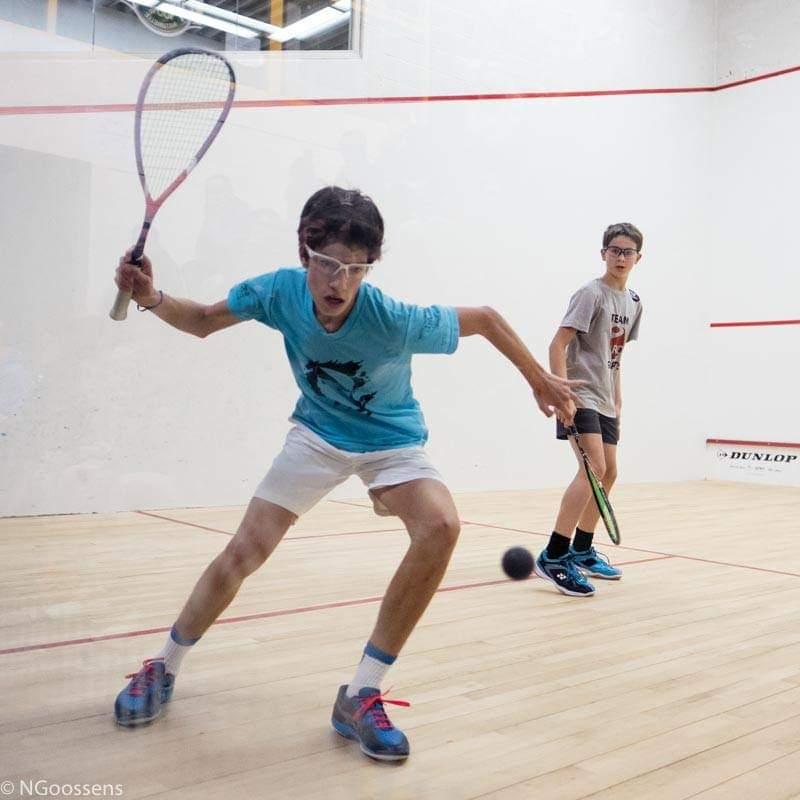 Antonin Romieu No 1 européen de squash U13