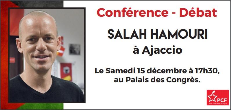 Salah, avocat franco-palestinien, militant des Droits de l'Homme en conférence à Ajaccio du PCF