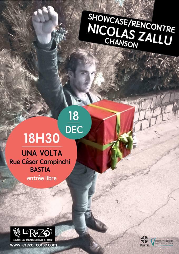 Chanson : Nicolas Zallu à Una Volta