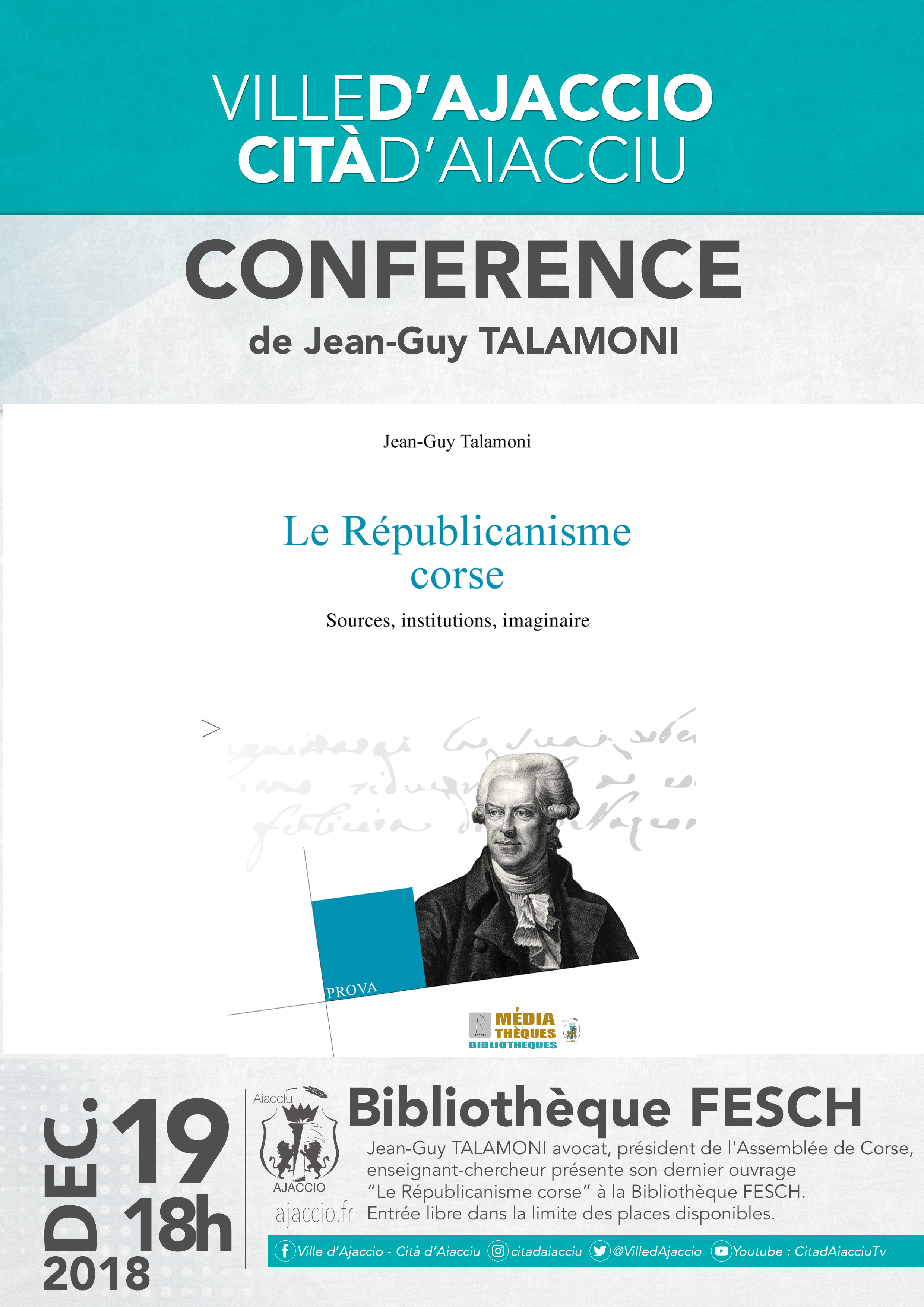 Jean-guy Talamoni à la bibliothèque Fesch