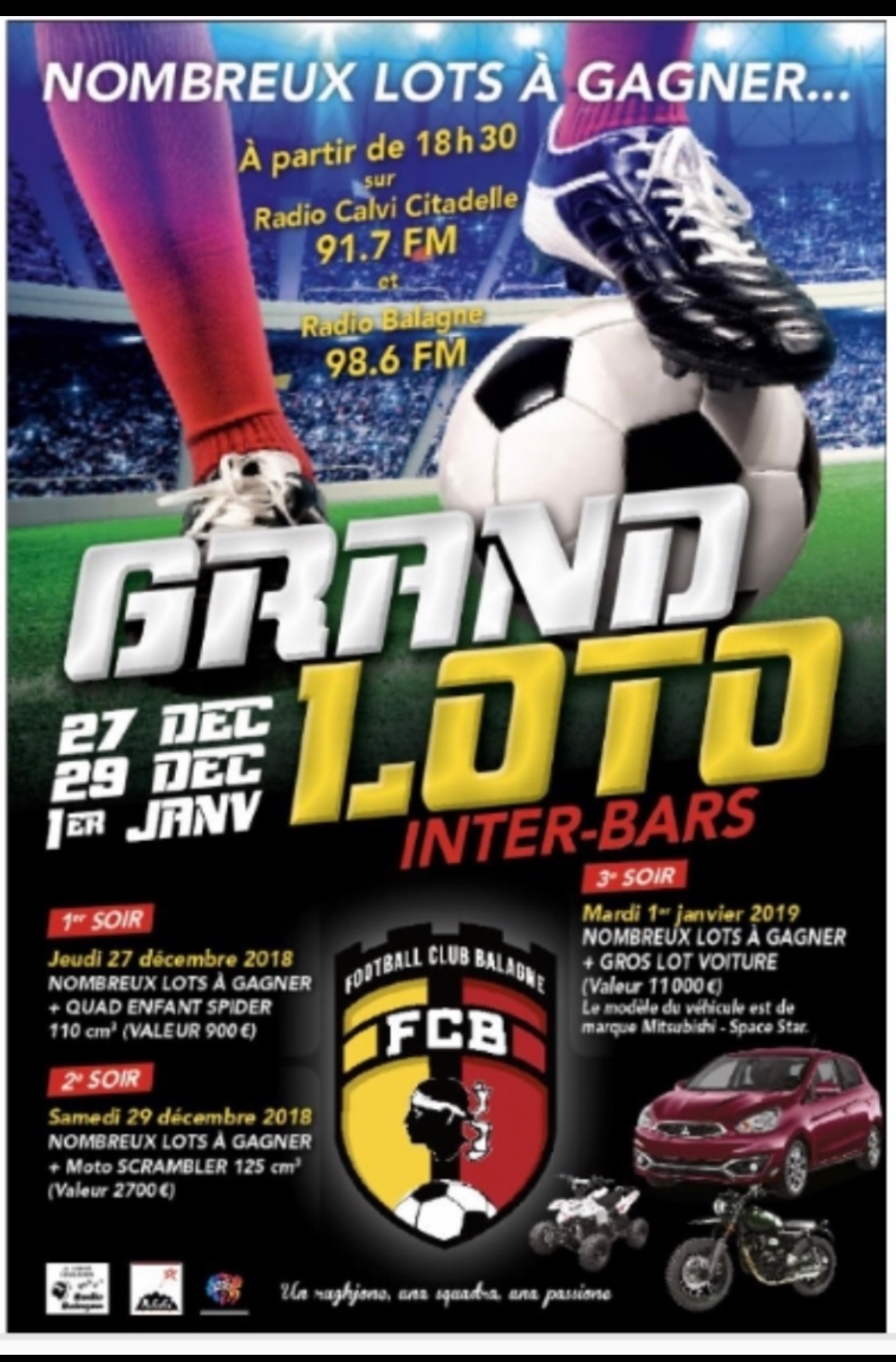 Loto inter bars du Football Club Balagne