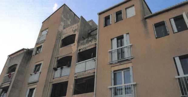 Logement social dans le quartier de Budiccioni à Ajaccio. (Photo rapport d'huissier).