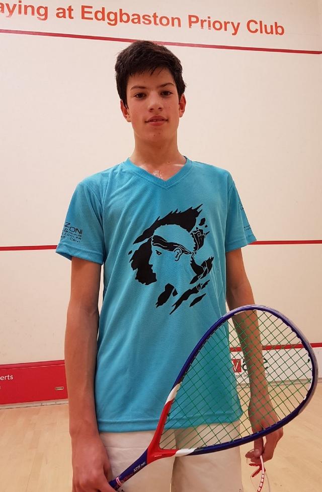 Antonin Romieu dans le dernier carré du British Junior Open de Squash à Bimingham