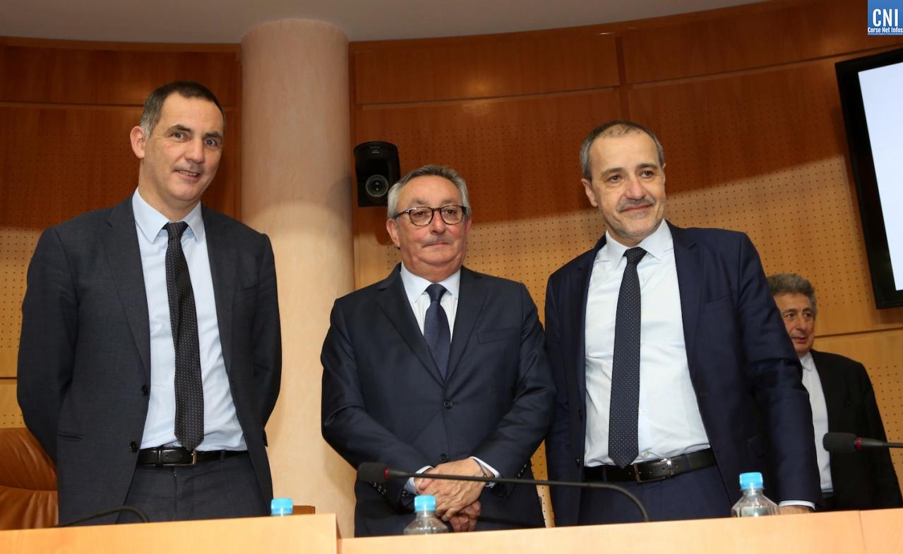 Gilles Simeoni, Paul Scaglia, Jean-Guy Talamoni