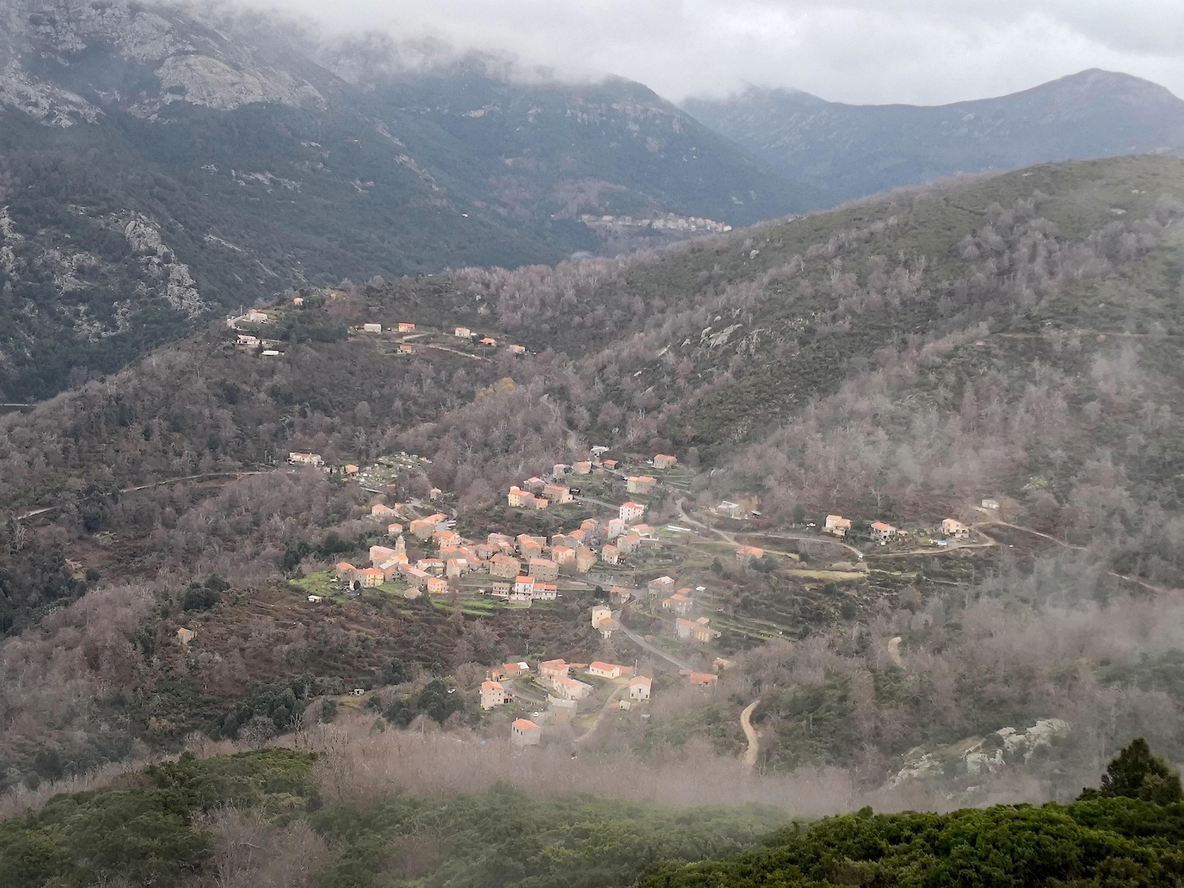 La photo du jour : Marignana dans le froid de l'hiver