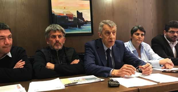 Michel Castellani et son équipe.