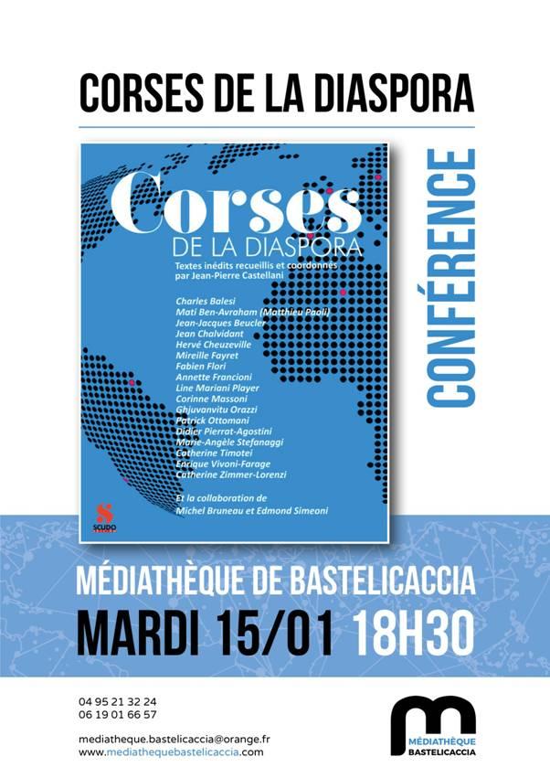Rencontre avec les auteurs du livre  «  Corses de la Diaspora », le 15 janvier, à 18h30 à la Médiathèque de Bastelicaccia.