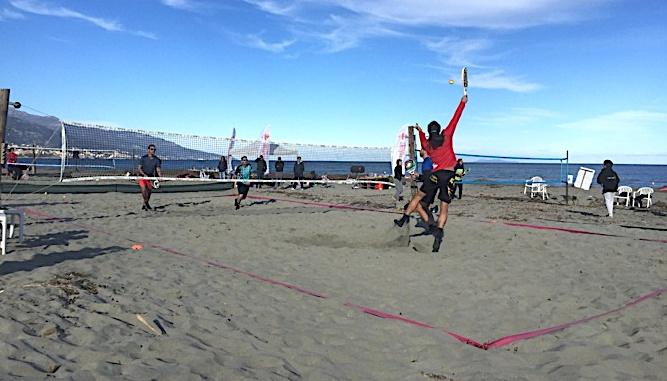 David Mottin, sélectionneur de l'équipe de France de Beach tennis, était présent ce week-end à la Winter cup du Marana Beach Corsica